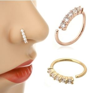 🎉RESTOCKED🎉Rhinestone nose ring 3 colors
